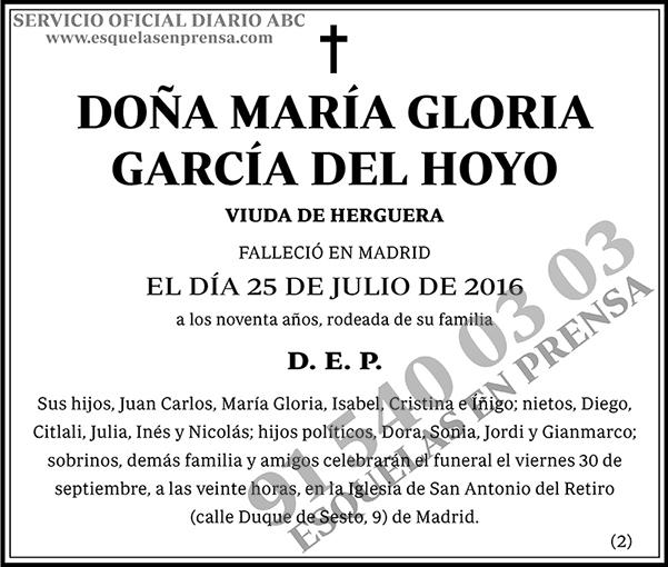 María Gloria García del Hoyo